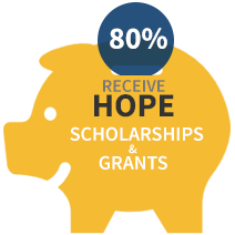 80% HOPE Scholarships and Grants