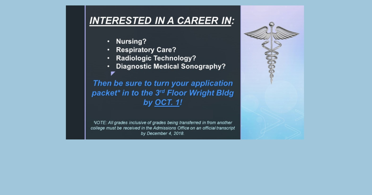Future Healthcare Professionals, Take Note!