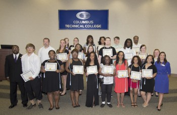 Photo showing GED graduates