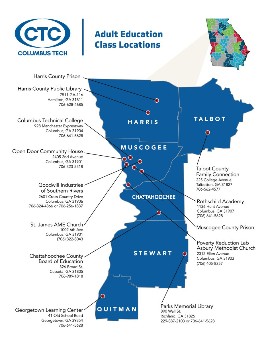 Map of Adult Ed provider locations