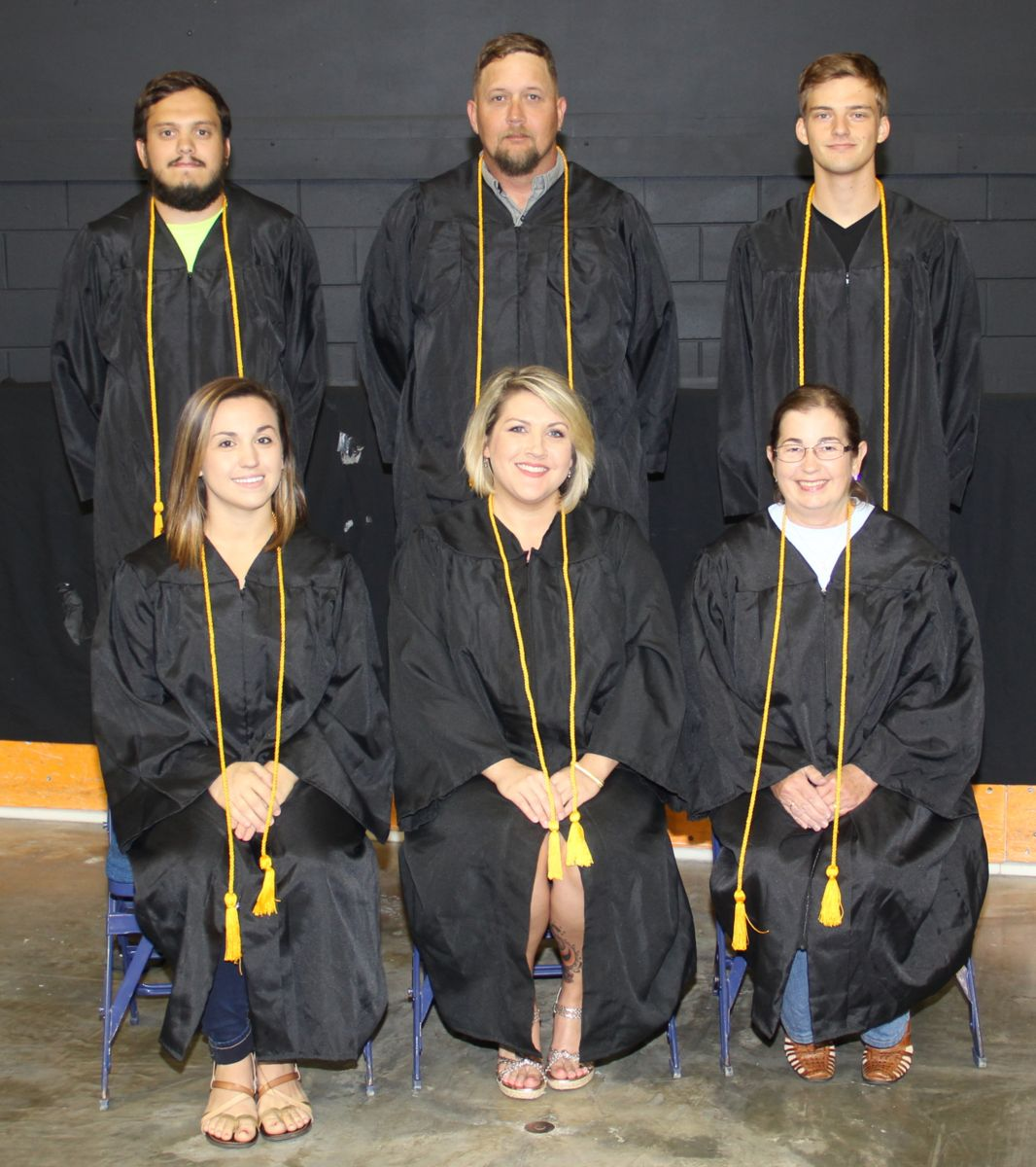 Picture shows some honor graduates
