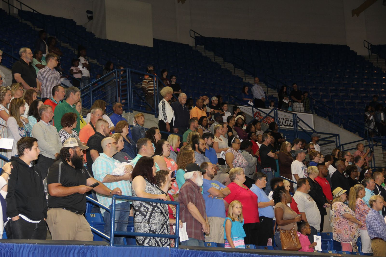 crowd at june graduation