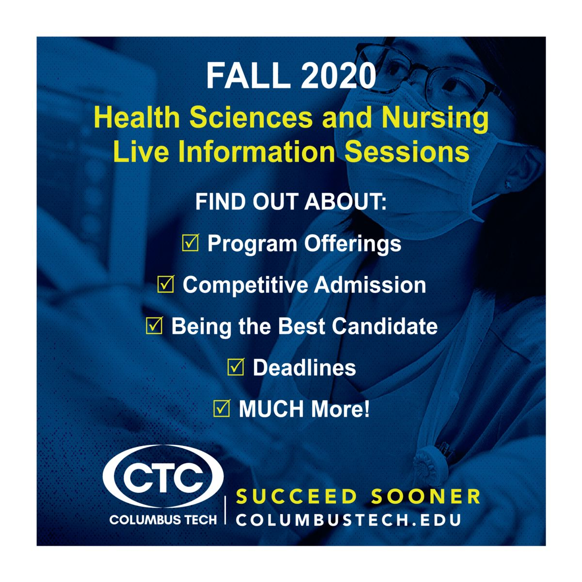 Health Sciences and Nursing Info Session graphic